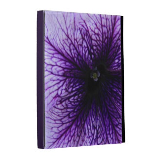 Purple flower macro photography iPad case