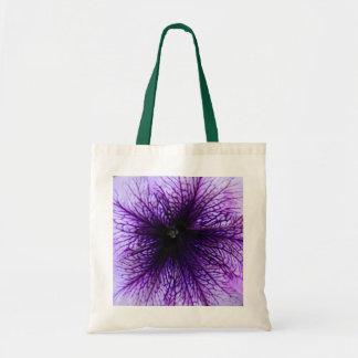 Purple flower macro photography tote bag