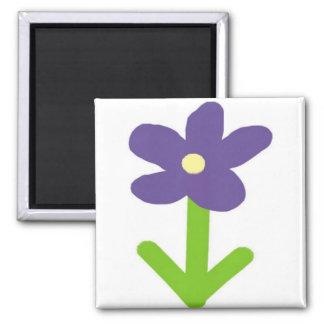 Purple Flower Refrigerator Magnet