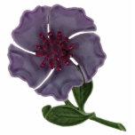 Purple Flower Magnet Photo Sculpture Magnet