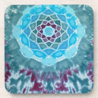 Purple Flower Mandala Tie Dye Beverage Coaster