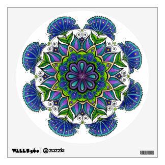 Purple Flower Mandala Wall Decal