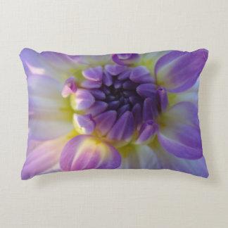 purple flower accent pillow