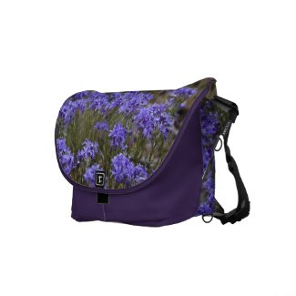 Purple Flower Messenger Bag rickshawmessengerbag