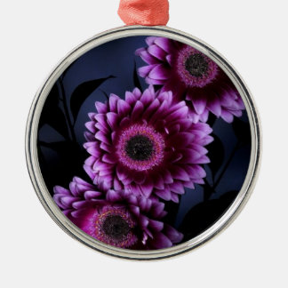 Purple Flower Metal Ornament