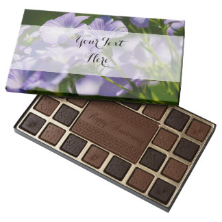 Purple Flower, Nature Photography, Floral 45 Piece Box Of Chocolates