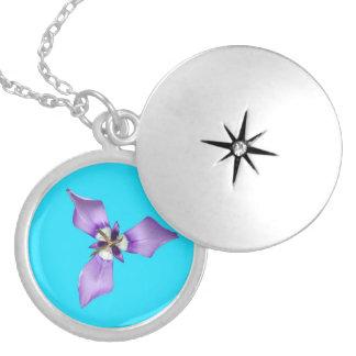 Purple Flower Necklaces