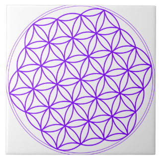 Purple Flower Of Life - Mini Grid for Crystals Tile