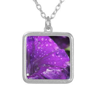 Purple Flower of Love Pendants