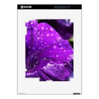 Purple Flower of Love Decals For The iPad 2