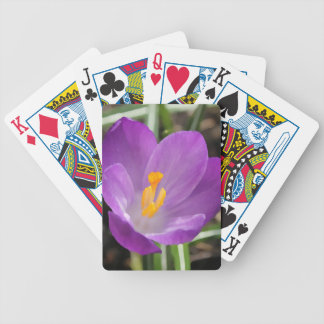 Purple Flower Oil Painting Bicycle Playing Cards