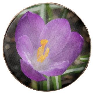Purple Flower Oil Painting Chocolate Covered Oreo