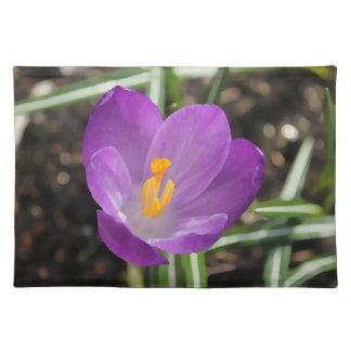Purple Flower Oil Painting Cloth Place Mat