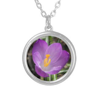 Purple Flower Oil Painting Custom Jewelry