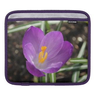 Purple Flower Oil Painting iPad Sleeve