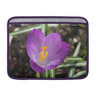 Purple Flower Oil Painting Sleeves For MacBook Air