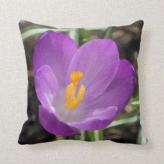 Purple Flower Oil Painting Throw Pillows