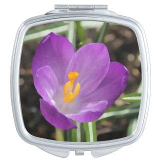 Purple Flower Oil Painting Vanity Mirror