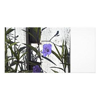 Purple flower on Fence Card