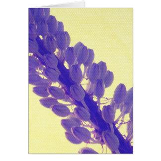 Purple Flower on Yellow Card