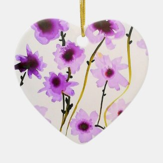 Purple flower Ornament