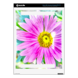 Purple flower painting xbox 360 console skin