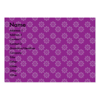 Purple flower pattern large business cards (Pack of 100)