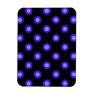purple flower pattern magnet