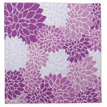 Purple Flower Pattern Napkin