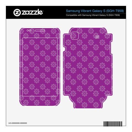Purple flower pattern samsung vibrant skin