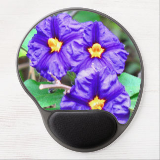Purple Flower Photograph Gel Mouse Pad