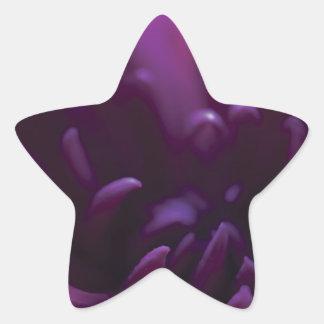 Purple Flower Photograph Star Sticker
