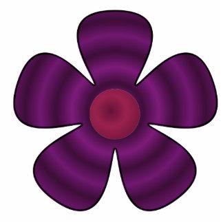 purple flower photo sculpture ornament