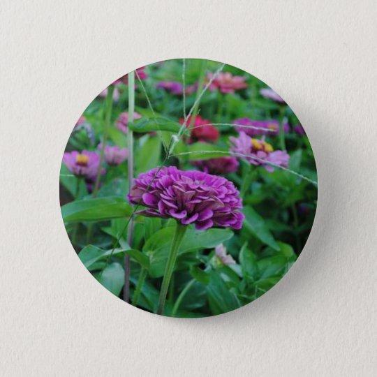 Purple Flower Pinback Button