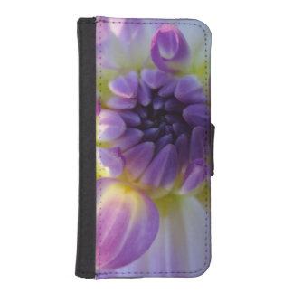 purple flower phone wallets