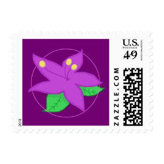 Purple Flower Postage Stamp