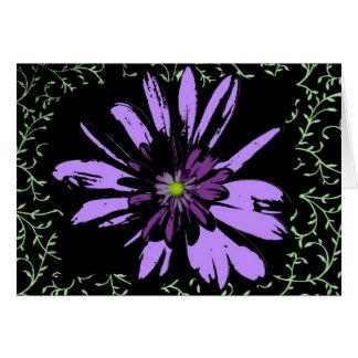 Purple Flower Power Card