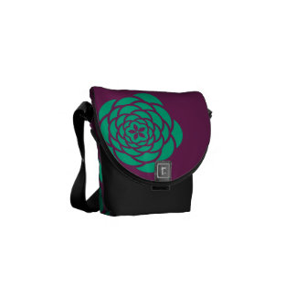 Purple Flower Power Messanger Bag