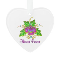 Purple Flower Power Ornament