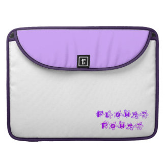 Purple Flower Power Sleeve For MacBooks