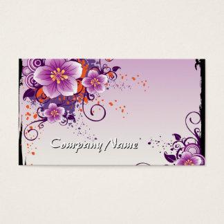 Purple Flower Prairie Rose Business Card