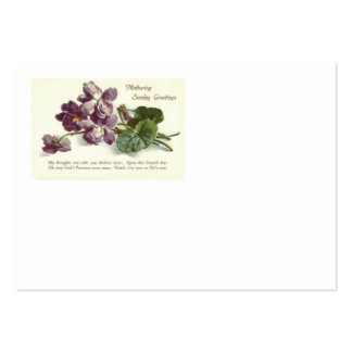 Purple Flower Prayer Sunday Mother's Day Large Business Cards (Pack Of 100)