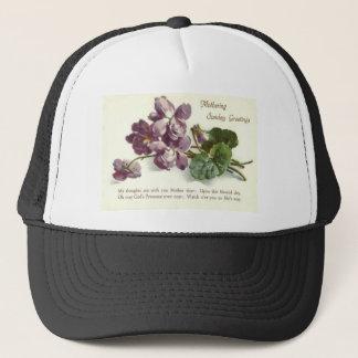 Purple Flower Prayer Sunday Mother's Day Trucker Hat