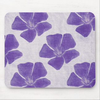 Purple Flower Print Mousepad