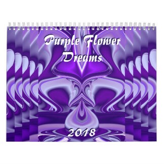 Purple Flower Rainbow Dreams Calendar