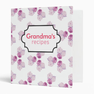 Purple Flower Recipe Collection Binder