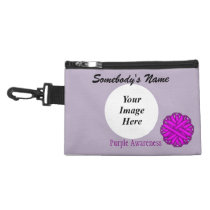 Purple Flower Ribbon Accessory Bag