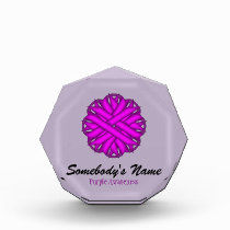 Purple Flower Ribbon Award