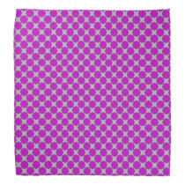 Purple Flower Ribbon Bandana