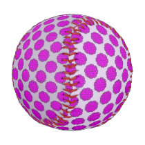 Purple Flower Ribbon Baseball